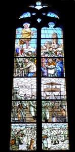 Cathédrale de Rodez - vitrail - (Captivité des PG français 1940-1945) - photo Dominique Lempereur