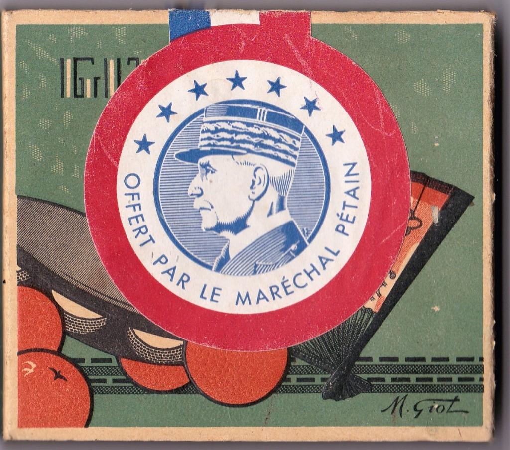 Paquet de 10 cigarettes colis Pétain