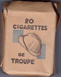 Paquet de cigarettes troupe Etat Français