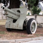 Canon obusier Schneider de 155mm modèle  1917 - Musée de Saumur