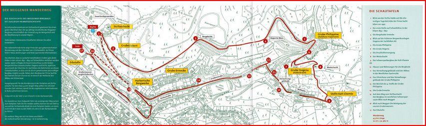 Meggen - Plan du complexe minier exploité en 40-45 par la Sachtleben A.G. et après la guerre par la Siciliaschacht