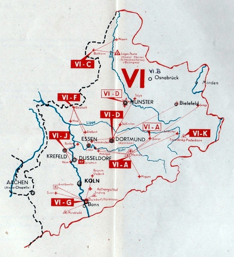 Documentation sur les camps de PG - avril 45 - (page 136 - carte du Wehrkreis VI)